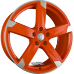 RONDELL 01RZ Racing-Orange Poliert Einteilig 8.00 x 18 ET 33.00 5 x 120.00